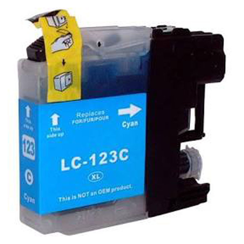 BROTHER LC-123 (B123, LC123 C) CYAN 10 ml 800 pages